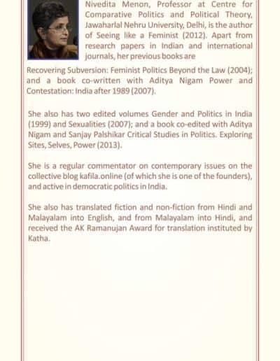 Annual Lecture by Prof. Nivedita Menon